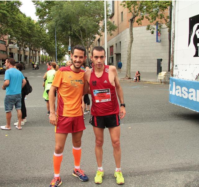 Junto con Jordi Escoriza una vez terminada la Cursa.