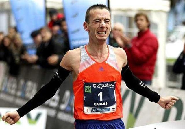 Carles Castillejo cuando se proclamó campeón de España de Maratón, certificando su billete al Europeo de Zurich.