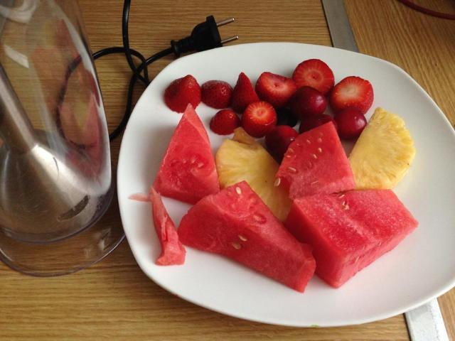 Batido variado de frutas.
