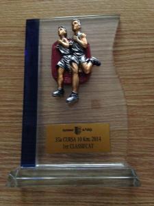 Trofeo 1er Clasificado M3 de los 10k.
