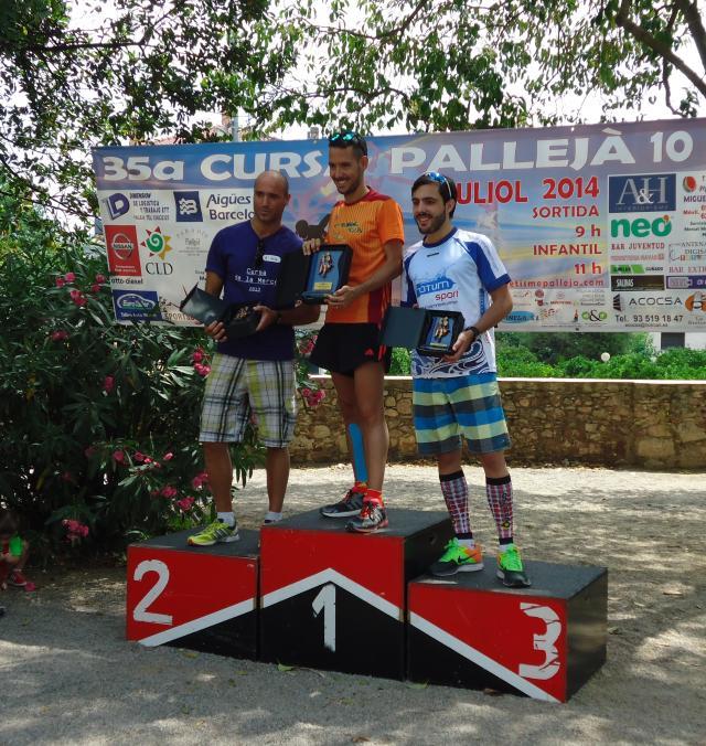 Podio Categoria M3, junto a Saito Hach y Eric Monasterio.
