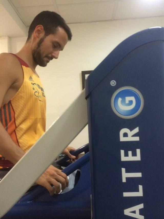 En proceso de calibración de la máquina AlterG.