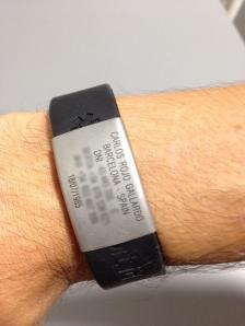 Mi pulsera Safesport ID.