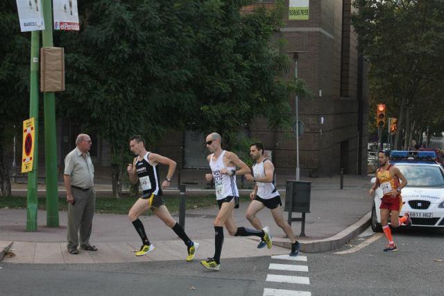 En el KM1 tras Ernest, Juan Pedro y otro corredor.