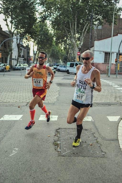 Junto a Juan Pedro Mora en la Cursa del Poblenou.