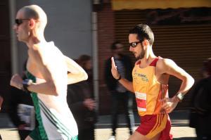 Durante la cursa junto a Juan Pedro Mora.