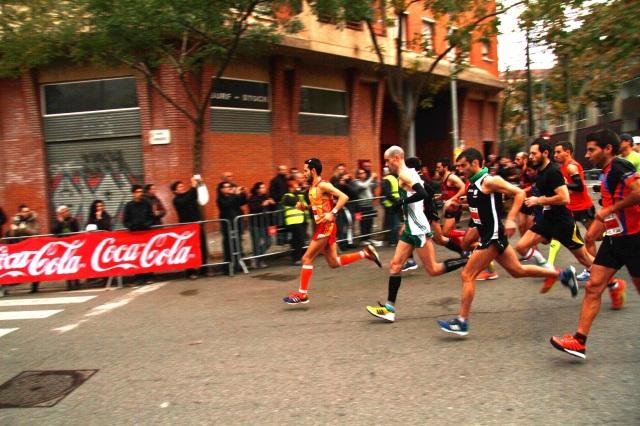 Primeros segundos de la carrera.