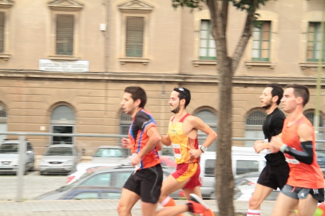De camino al KM6, junto a Daniel Baena, Albert Sasot y Carles Montllor.