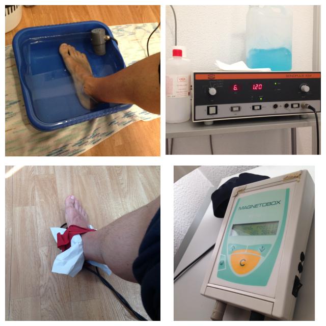 Ultrasonidos y magnetoterapia.