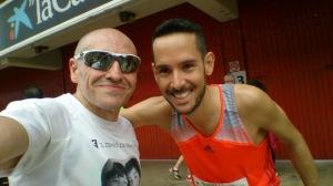 Selfie con Rafa Pérez al terminar la carrera.
