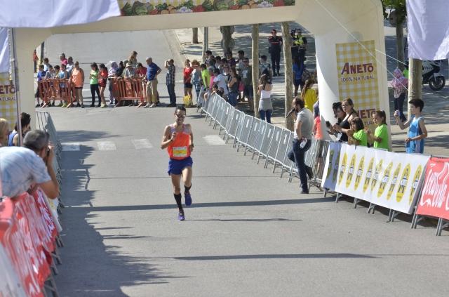 En los últimos metros de carrera.