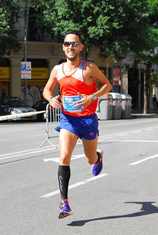 Dejandome los restos en el tramo final de carrera por Travesera de Gracia.