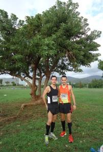 Al finalizar la Cursa del Mediterrani del pasado 2012 junto a mi hermano.